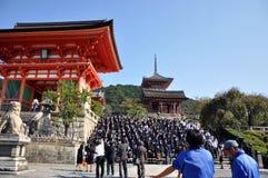 KYOTO 21. OKTOBER: Fangen Sie Besuch an Koyomizu Tempel, ein berühmter Tourist auf Lizenzfreie Stockfotos