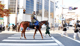 KYOTO - 22 OCTOBRE : participants sur le Jidai Matsuri Image libre de droits
