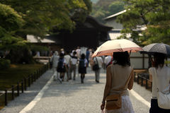 Kyoto. Women with the sunshades Stock Images