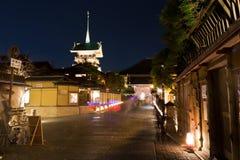 Kyoto alla notte, Giappone fotografia stock libera da diritti