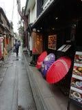 Kyoto antik gata, Japan royaltyfria bilder