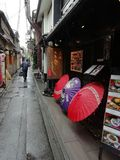 Kyoto Antykwarska ulica, Japonia obrazy royalty free