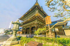 KYOTO - APRIL 2016: Higashi Hongan-ji is a buddhist temple. Kyot. O is a major city attraction in Japan Stock Photo