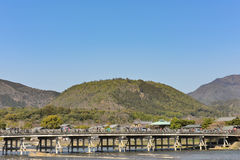 Kyoto Arashiyama - Katsura river side view - Kyoto Japan. Sunday Morning Stock Images