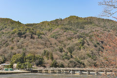 Kyoto Arashiyama - Katsura river side view - Kyoto Japan. Sunday Morning Stock Photo