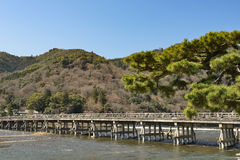 Kyoto Arashiyama - Katsura river side view - Kyoto Japan. Sunday Morning Stock Image