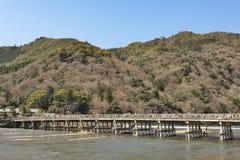 Kyoto Arashiyama - Katsura river side view - Kyoto Japan. Sunday Morning Stock Photo