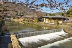 Kyoto Arashiyama - Katsura river side view - Kyoto Japan Stock Photo