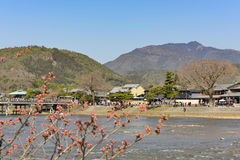 Kyoto Arashiyama - Katsura river side view - Kyoto Japan Stock Images