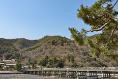 Kyoto Arashiyama - Katsura river side view - Kyoto Japan. Sunday Morning Stock Photography