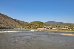 Kyoto Arashiyama - Katsura river side view - Kyoto Japan Royalty Free Stock Images