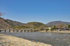 Kyoto Arashiyama - Katsura river side view - Kyoto Japan Royalty Free Stock Photos