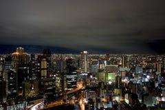 Kyoto bij nacht Stock Foto's