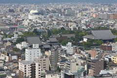 Kyoto bird's eye view Stock Photo