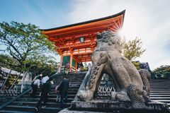 Kyoto Buddhist Pagoda and statue in Japan Royalty Free Stock Image