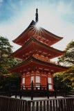 Kyoto Buddhist temple and pagoda in Japan. Artistic interpretati. On. Zen Buddha temple in Kyoto Stock Photo
