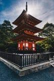 Kyoto Buddhist temple and pagoda in Japan. Artistic interpretati. On. Zen Buddha temple in Kyoto Stock Photography