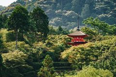 Kyoto Buddhist temple and pagoda in Japan. Zen Buddha temple in Kyoto Stock Photography