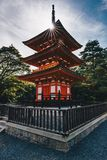 Kyoto Buddhist temple and pagoda in Japan. Artistic interpretati. Kyoto Buddhist temple and pagoda in Japan. Zen Buddha temple in Kyoto Stock Images