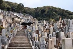 Kyoto - cimitero giapponese Fotografie Stock