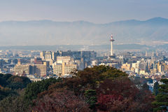Kyoto City with autumn season in Japan Stock Image
