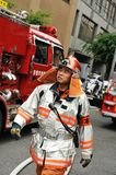 Kyoto City Fire Department. At work royalty free stock image