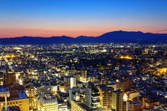 Kyoto City night in Japan Royalty Free Stock Photos