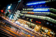Kyoto City Night Shot (Kyoto Tower Hotel) Royalty Free Stock Photos
