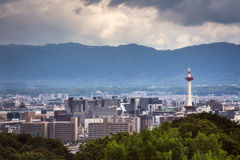 Kyoto city in summer Stock Images