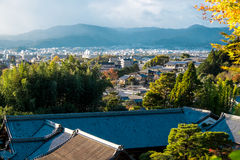 Kyoto cityscape from Ginkakuji viewpoint Royalty Free Stock Photos