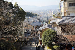 KYOTO - 31 de dezembro: turistas na rua em dezembro 31,2016 dentro Imagens de Stock Royalty Free