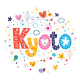 Kyoto. Decorative type lettering design royalty free illustration