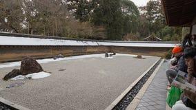 Kyoto, een rotstuin stock foto