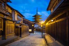 Kyoto et lever de soleil Image libre de droits