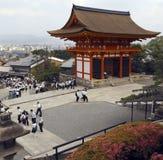 kyoto för derajapan kiyomizu tempel Fotografering för Bildbyråer