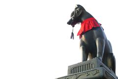 kyoto för kitsune för inari för rävfushimiguard relikskrin arkivbild