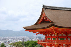 Kyoto With Foreground Temple  Stock Images