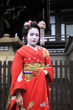 Kyoto Geisha. The Geisha in the temple , Niyama Park, Kyoto Japan. 2010. 0315 royalty free stock photography