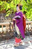KYOTO, GIAPPONE - 8 NOVEMBRE 2011: Giovane Maiko Immagine Stock