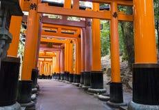 Kyoto, Giappone al santuario di Fushimi Inari Fotografia Stock Libera da Diritti