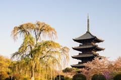 Kyoto, Giappone al tempio di Toji fotografia stock