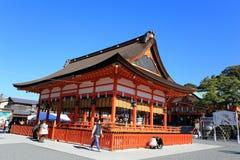 KYOTO, GIAPPONE - 14 GENNAIO: Gente non identificata a Fushimi Inari Immagine Stock