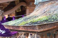 KYOTO, GIAPPONE - 11 gennaio 2015: Santuario di Munakata di Kyoto Gyoen Garde fotografie stock libere da diritti