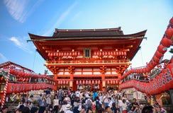 Kyoto, Giappone - 23 luglio 2016 I portoni di Torii a Fushimi Inari shrine a Kyoto fotografia stock