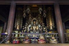 Kyoto, Giappone - 18 maggio 2017: Buddha dorato dentro Chion-in tempio K Immagini Stock Libere da Diritti