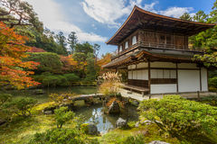 Kyoto Ginkakuji temple. Kyoto Silver Pavillion Ginkakuji temple, Japan Stock Image