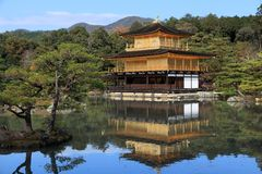 Kyoto Golden Pavilion Stock Photography