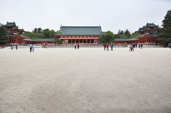 Kyoto Heian shrine Royalty Free Stock Images