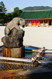 Amazing Tiger's Shinto holy fountain Royalty Free Stock Photo