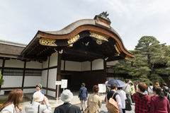 Kyoto Imperial Palace opens to public. Visitors enjoy the open day of Kyoto Imperial Palace in Kyoto, Japan. It is the former ruling palace of the Emperor of Stock Photos